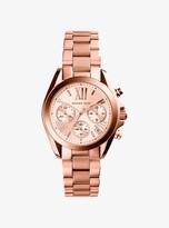 Michael Kors Mini Bradshaw Rose Gold-Tone Stainless Steel Watch