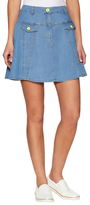 Love Moschino Denim A-Line Mini Skirt