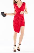 BCBGMAXAZRIA Elize Draped Crisscross Dress