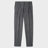Paul Smith Women's Grey Houndstooth Wool Pleated Trousers