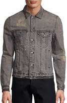 The Kooples Men's Destroy Denim Jacket