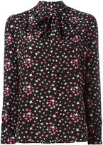 Saint Laurent star print lavaliere blouse - women - Silk - 36