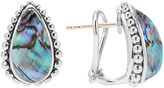 Lagos Sterling Silver Maya Abalone Doublet Half Hoop Earrings