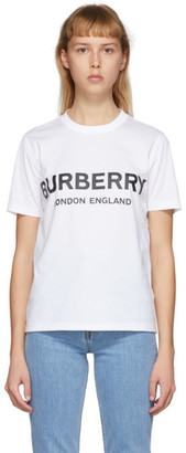 Burberry White Logo T-Shirt