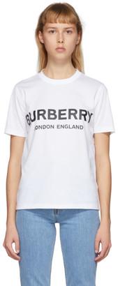 Burberry White Logo T-Shirt