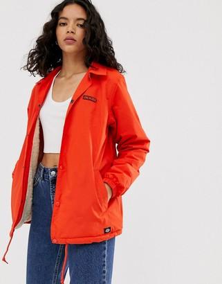 Dickies Dewitt zip through jacket in red