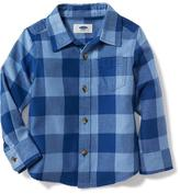 Old Navy Buffalo-Plaid Pocket Shirt for Toddler