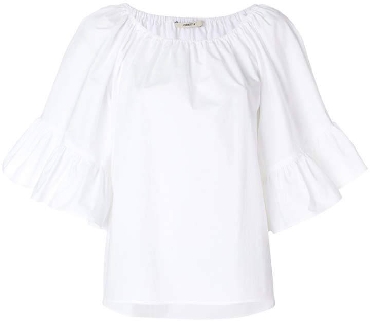 Odeeh ruffled sleeves blouse