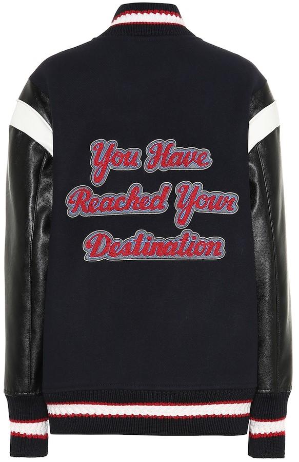 2e501e411 Appliqued wool bomber jacket