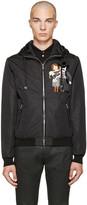 Dolce & Gabbana Black Nylon Cowboy Jacket