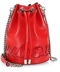 Christian Louboutin Women's Marie Jane Logo Leather Bucket Bag