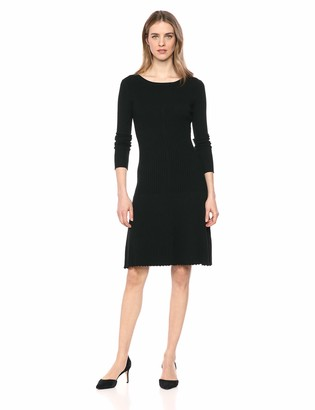 Lark & Ro Women's Long Sleeve Flared Sweater Dress