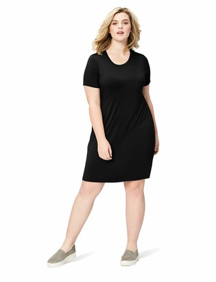 Daily Ritual Amazon Brand Women's Plus Size Jersey Short-Sleeve Scoop Neck T-Shirt Dress 1X