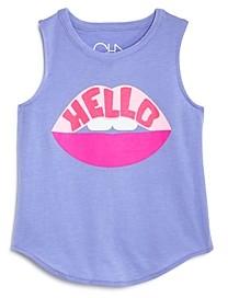 Chaser Girls' Hello Lips Tank Top - Little Kid, Big Kid