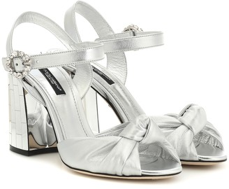 Dolce & Gabbana Mordore metallic leather sandals