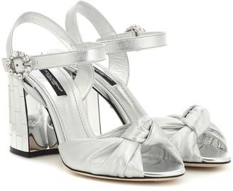 Dolce & Gabbana Mordore metallic leather sandals