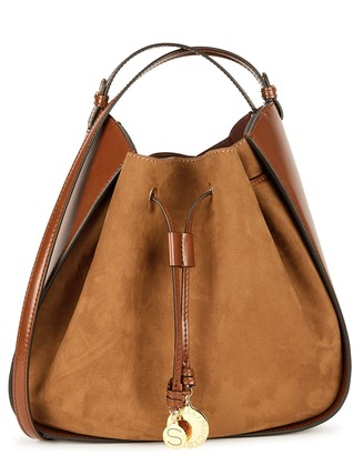 Stella McCartney Brown Faux Suede Shoulder Bag