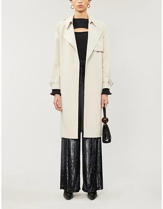 Alice + Olivia Adrien wrap shell trench coat