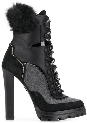 DSQUARED2 Panelled Lace-Up Ankle Boots