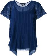 Emporio Armani pleated T-shirt - women - Polyester/Viscose/Spandex/Elastane - 40