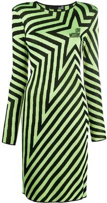 Love Moschino Star Print Long-Sleeve Dress