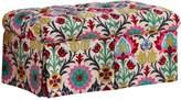 Skyline Furniture Santa Maria Desert Flower Skirted Storage Bench