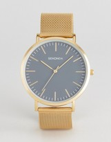 Sekonda Gold Mesh Watch With Gray Dial Exclusive To ASOS