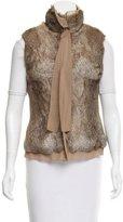 Bergdorf Goodman Silk-Accented Fur Vest