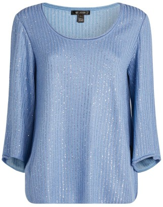 St. John Sequined Knit Sweater