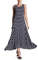 Max Studio Nautical Striped Maxi Dress