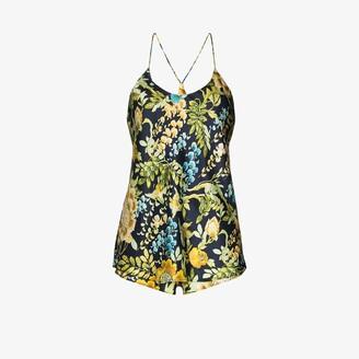 Olivia von Halle Bella Debauchery floral silk short pyjamas