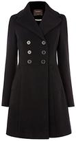 Oasis Melissa Long Sleeve Skater Coat, Black
