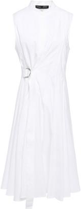 Proenza Schouler Pleated Cotton-poplin Wrap Dress