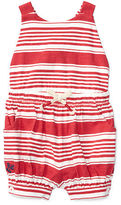 Ralph Lauren Baby Girl Striped Cotton Jersey Romper