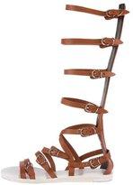 Balenciaga Leather Gladiator Sandals