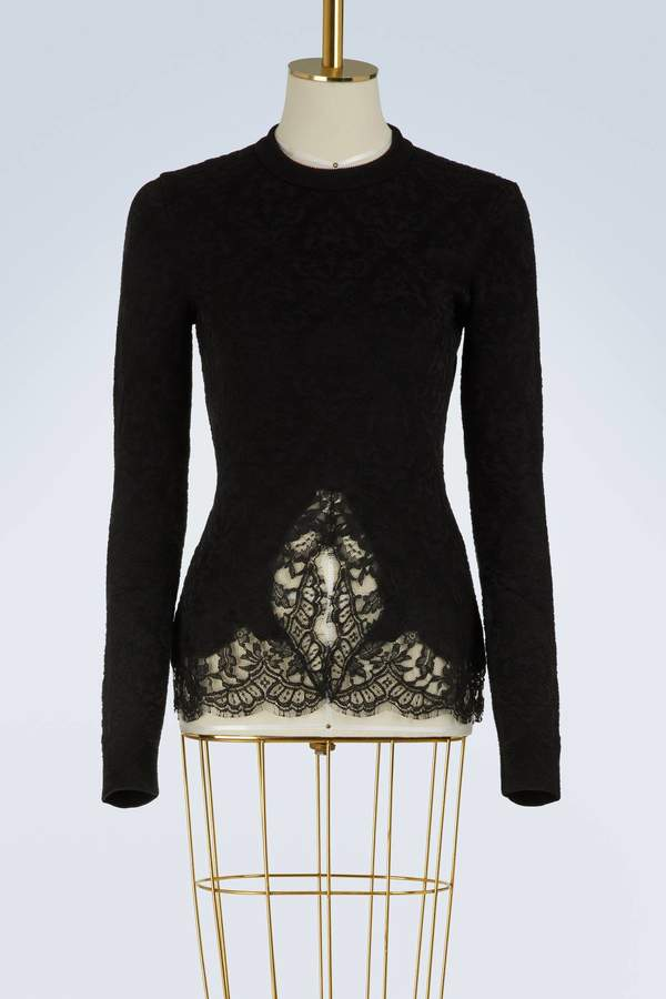 Givenchy Pullover with lace inserts