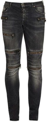 Unravel Project Moonwash Moto Skinny Jeans