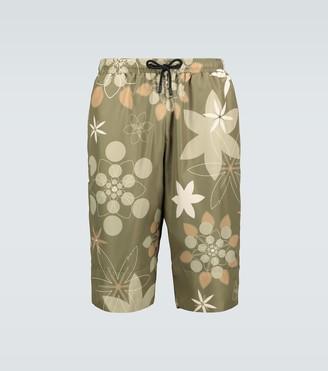 Fendi Floral printed swim shorts