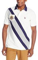 U.S. Polo Assn. Men's Diagonal-Striped Pique Polo Shirt