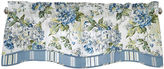 Waverly Floral Engagement Rod-Pocket Lined Valance