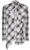 Miharayasuhiro Raw Edge Twisted Plaid Shirt