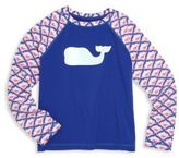 Vineyard Vines Toddler's & Girl's Whale Graphic Rash Guard
