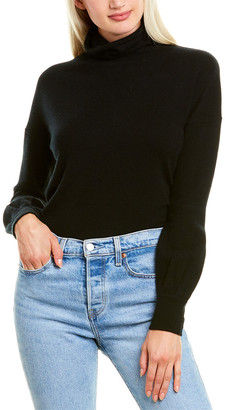 Forte Cashmere Button-Back Cashmere Pullover