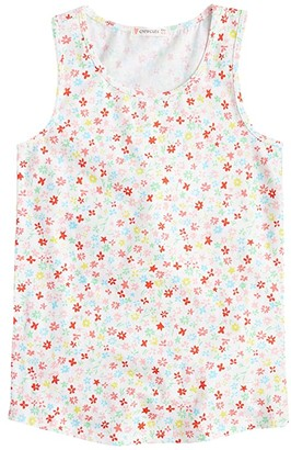 crewcuts by J.Crew Lola Tank Top Super Soft Printed (Toddler/Little Kids/Big Kids) (Ivory/Peony Multi) Girl's Clothing