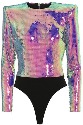 Alex Perry Exclusive to Mytheresa a Riley sequined bodysuit