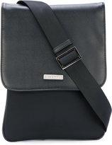 Baldinini classic mini messenger bag - men - Cotton/Calf Leather - One Size