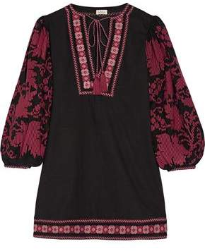 Talitha Collection Salma Embroidered Cotton Mini Dress