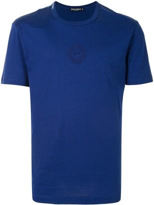 Dolce & Gabbana tonal logo-embroidered T-shirt