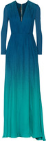 Elie Saab Dégradé silk-georgette gown