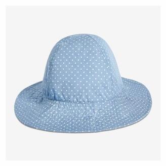Joe Fresh Kid Girls' Embroidered Chambray Sun Hat, Blue (Size L/XL)